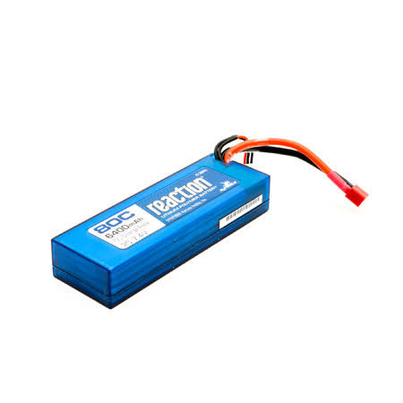 Dynamite Reaction Hardcase Lipo Battery - 7.4V, 6400 mah