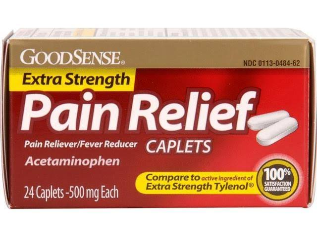 Goodsense Extra Strength Pain Relief Caplets - 500mg, 24ct, Case Pack 24