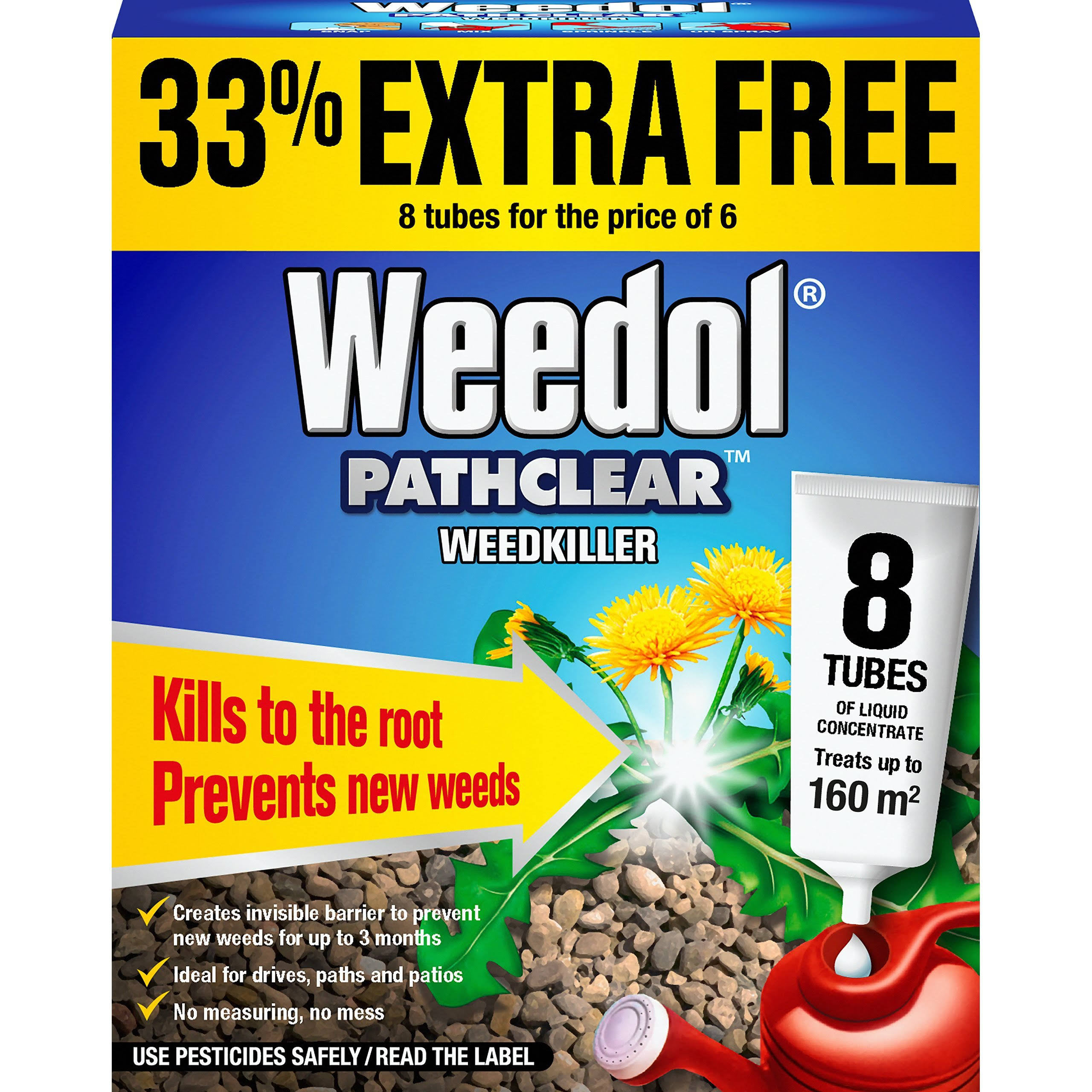Weedol Pathclear Weedkiller - 8 Tubes, 18ml