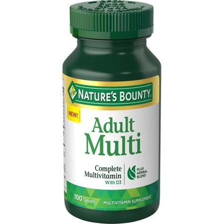 Natures Bounty Multivitamin, Adult, Tablets - 100 tablets