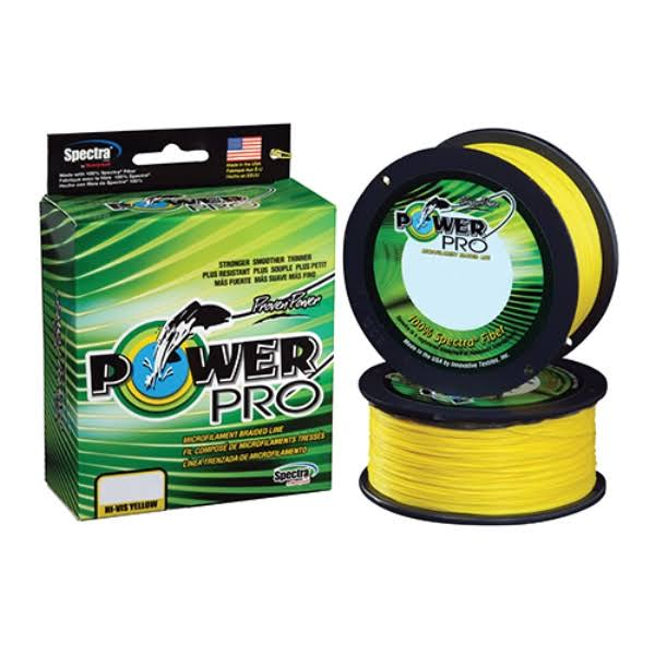 Power Pro Spectra Fiber Braided Fishing Line - Hi-Vis Yellow