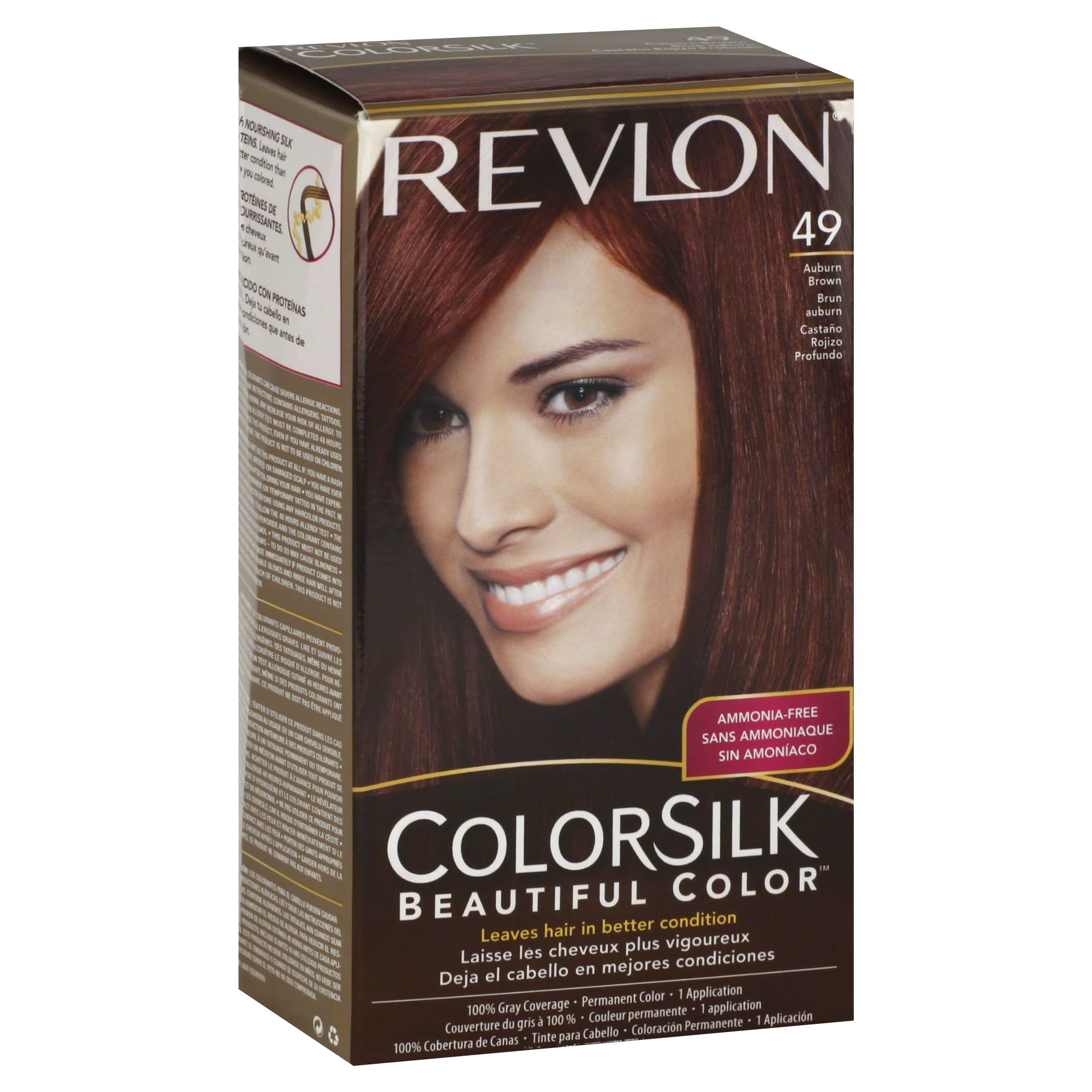 Revlon Colorsilk Hair Color - 49 Auburn Brown