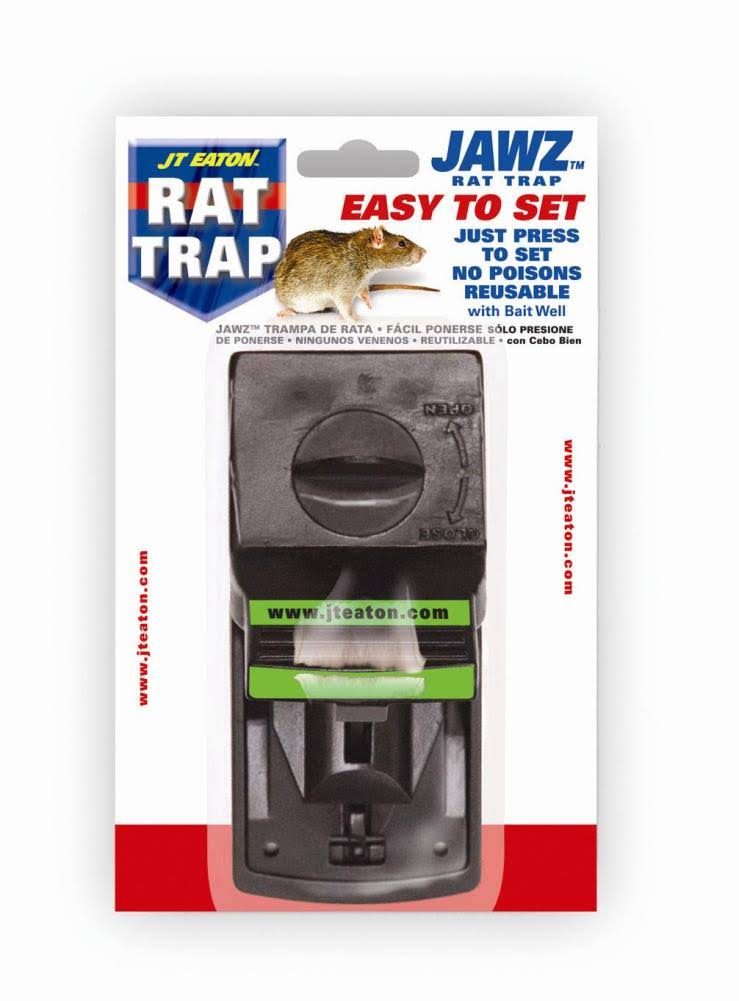 JT Eaton 410 Jawz Plastic Rat Trap - with High Tension Spring