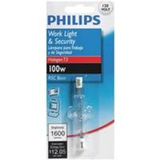 Philips Work Light & Security Light Bulb - 100W, T3, 120V