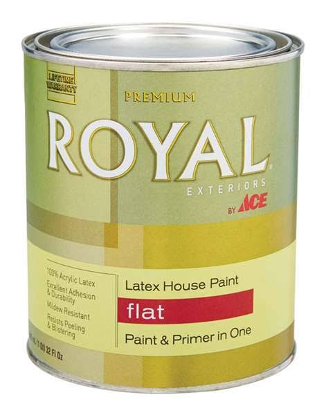 Ace Royal Tintable Base Flat Acrylic Latex House Paint & Primer 1 qt.