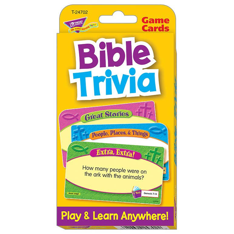 Trend Enterprises Bible Trivia Game Cards