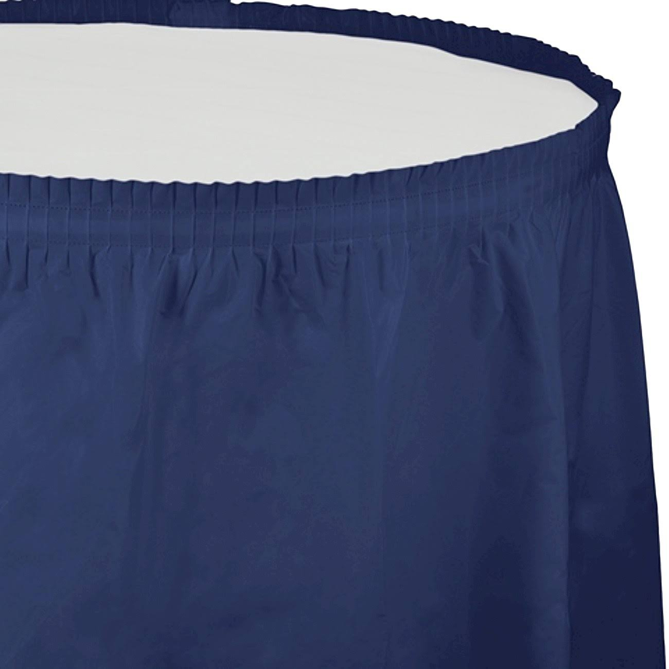 Creative Converting Plastic Table Skirt 14-Feet Navy
