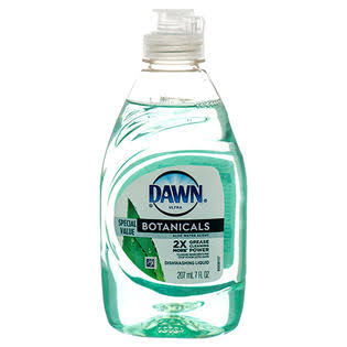 Dawn Ultra Dishwashing Liquid, Botanicals, Aloe Water Scent - 207 ml