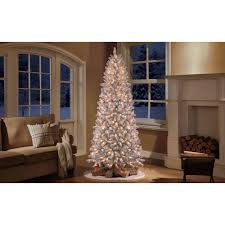 Lifelike Artificial Christmas Trees Canada by Holiday Time Pre Lit 9 U0027 Slim Winter Frost Pine Artificial