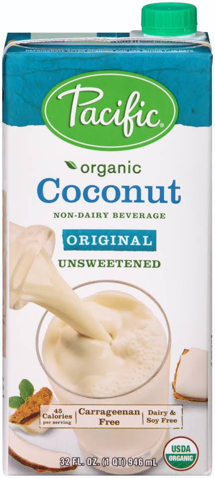 Pacific Foods Organic Coconut Milk - Unsweetened, 32oz
