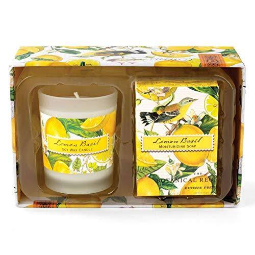 Michel Design Works Candle and Soap Gift Set - Lemon Basil