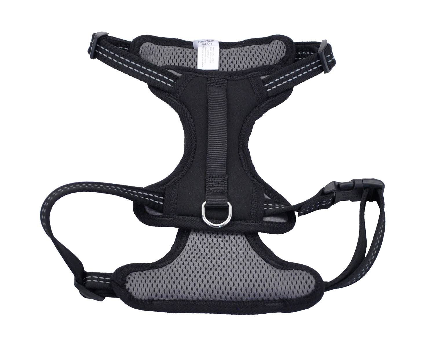 Coastal Reflective Control Handle Harness - Black, Medium