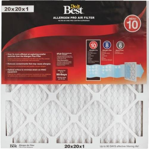 Do It Best Micro Allergen Pleated Air Filter - 20x20x1