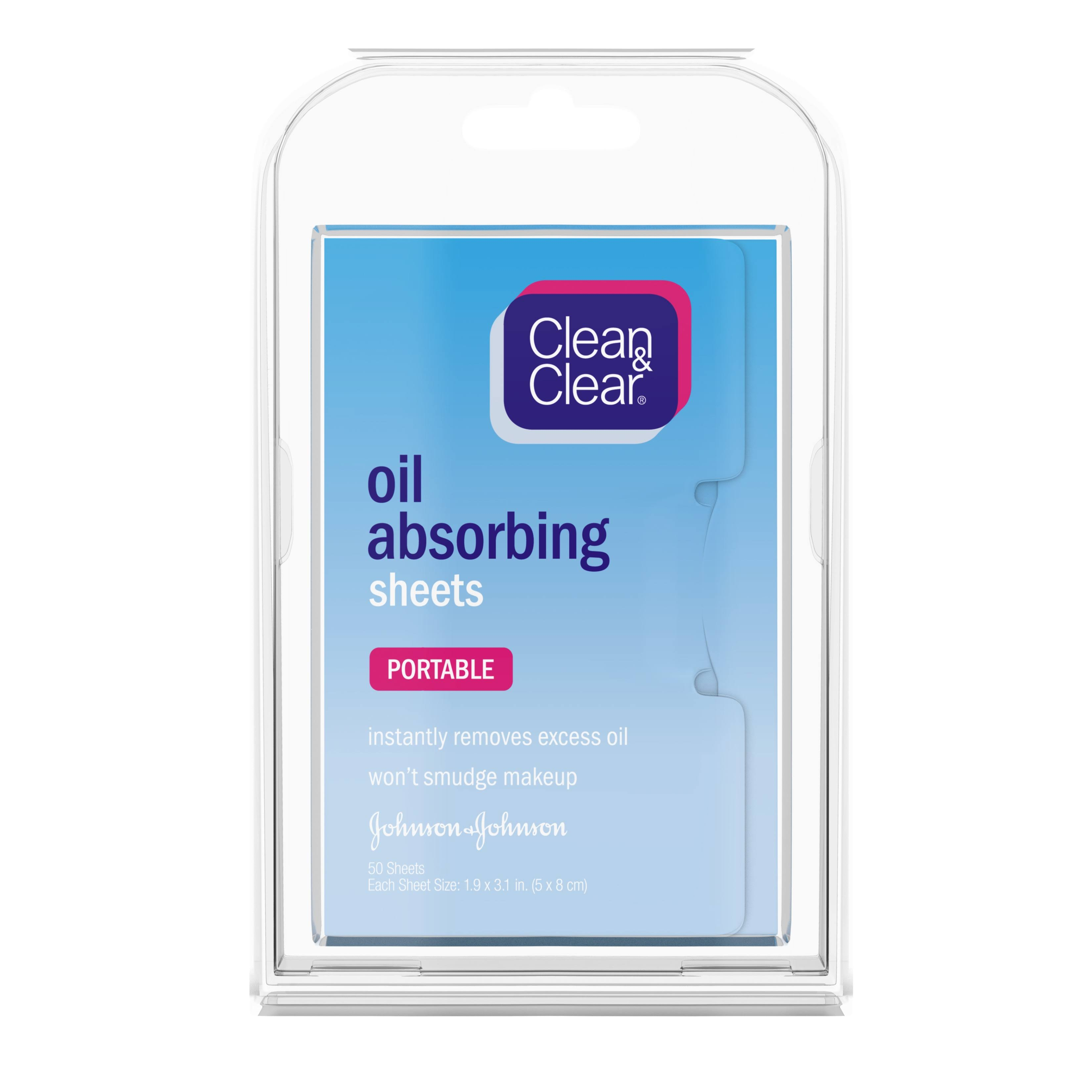Clean and Clear Oil Absorbing Sheets - 50 Sheets