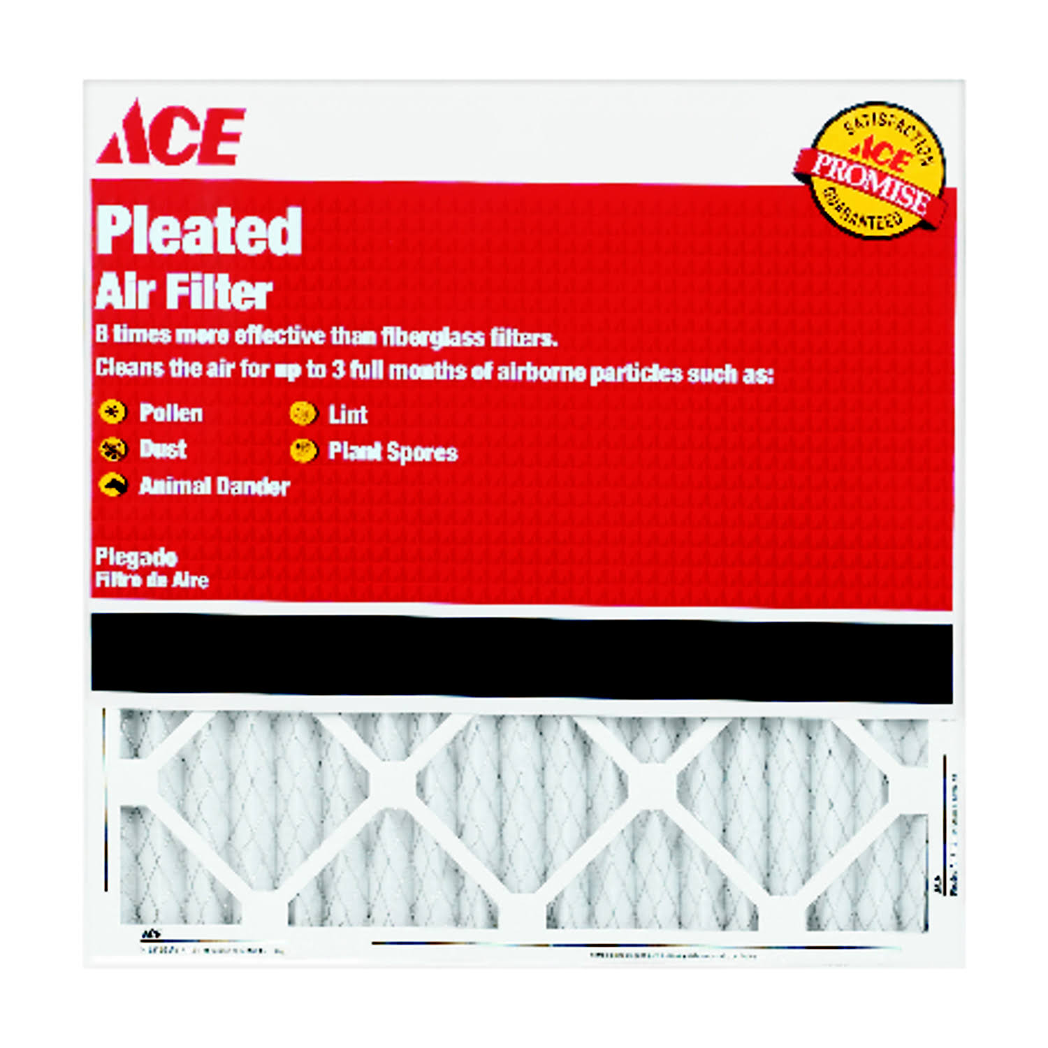 "Ace Pleated Furnace Air Filter - 20"" x 30"" x 1"""