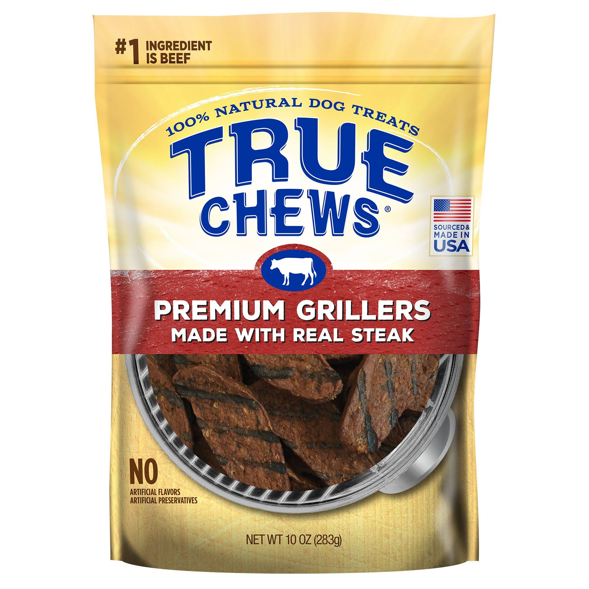 True Chews Premium Grillers Made with Real Steak Natural Dog Treats - 10oz