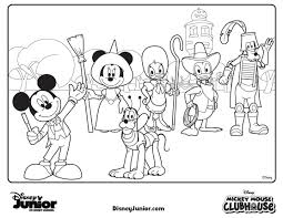 Disney Halloween Coloring Pages by Mickey Mouse Halloween Coloring Pages