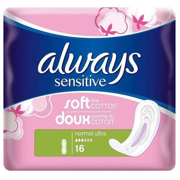 Always Sensitive Normal Ultra Sanitary Towels - 16 Pads