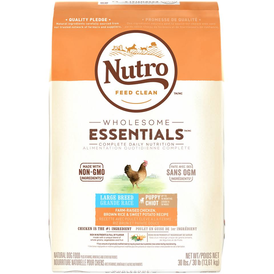 Nutro Wholesome Essentials Large Breed Puppy Food - Chicken, Brown Rice & Sweet Potato Recipe, 30lb