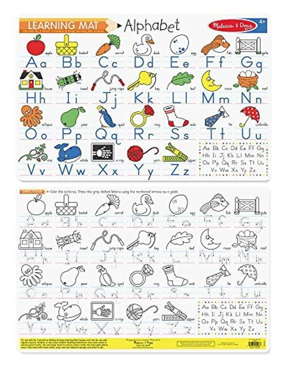 Melissa & Doug Alphabet Write-A-Mat Learning Placemat