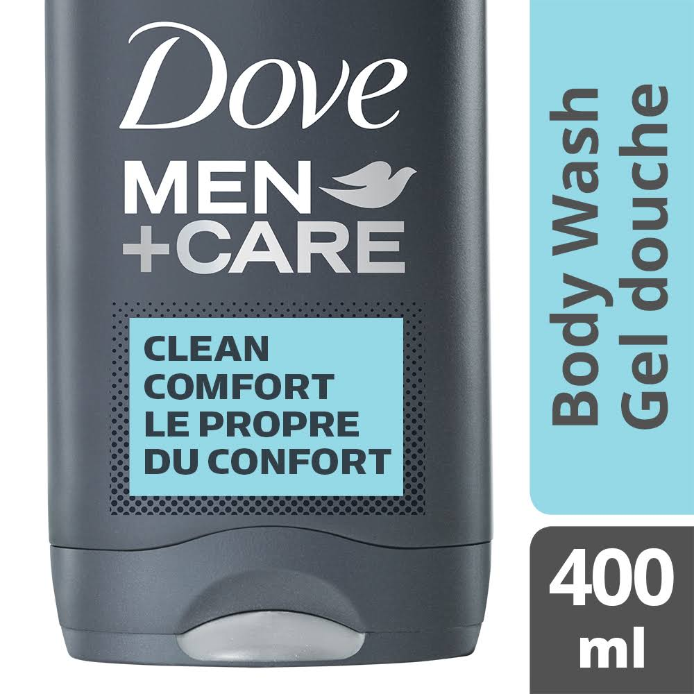 Dove Men+ Care Clean Comfort Body and Face Wash Gel - 400ml