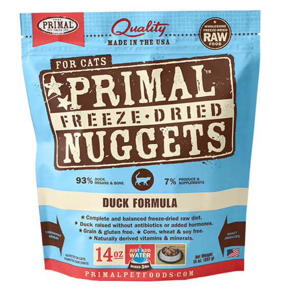 Primal Freeze Dried Nuggets for Cats - Duck Formula, 5.5oz
