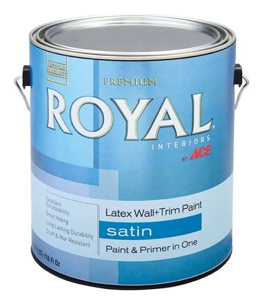 Ace Royal Interior Satin Wall and Trim Latex Paint - Neutral Base