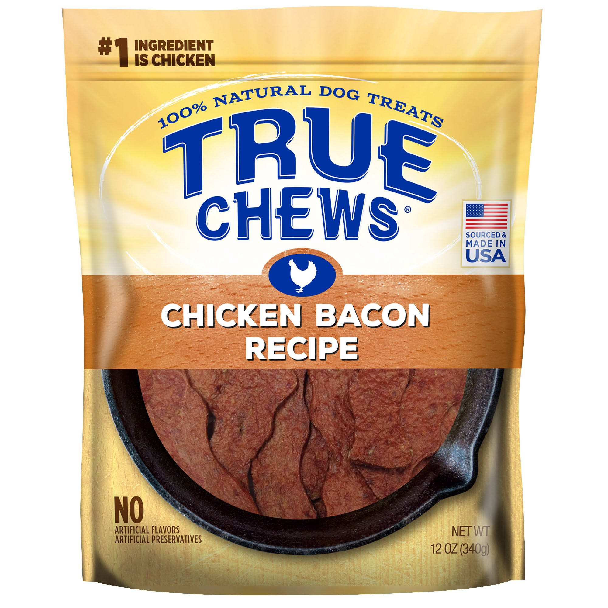 Tyson True Chews Dog Treats - Chicken Bacon Recipe, 12oz
