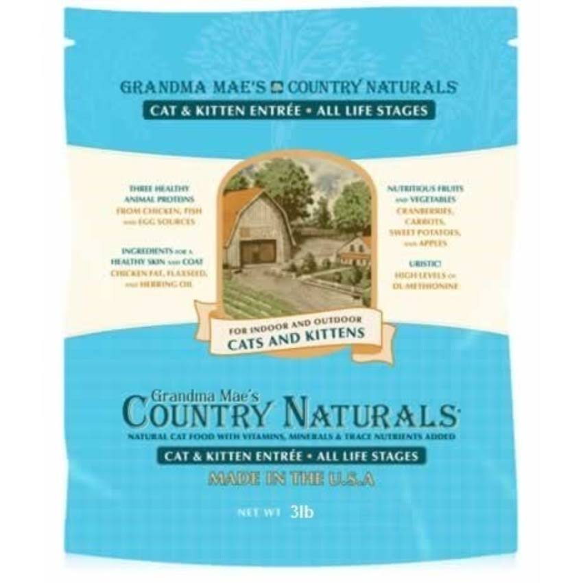 Grandma Mae's Country Naturals Dry Cat Food - 3lbs