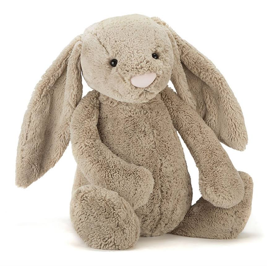 Jellycat Bashful Bunny Plush Toy - Beige, Large, 14""