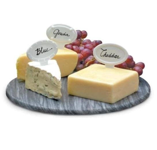 White Porcelain Cheese Labels - 6 count