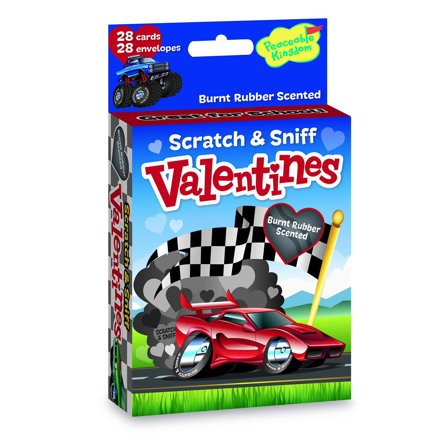 Peaceable Kingdom, Card Valentines Fun Wheels Scratch Sniff