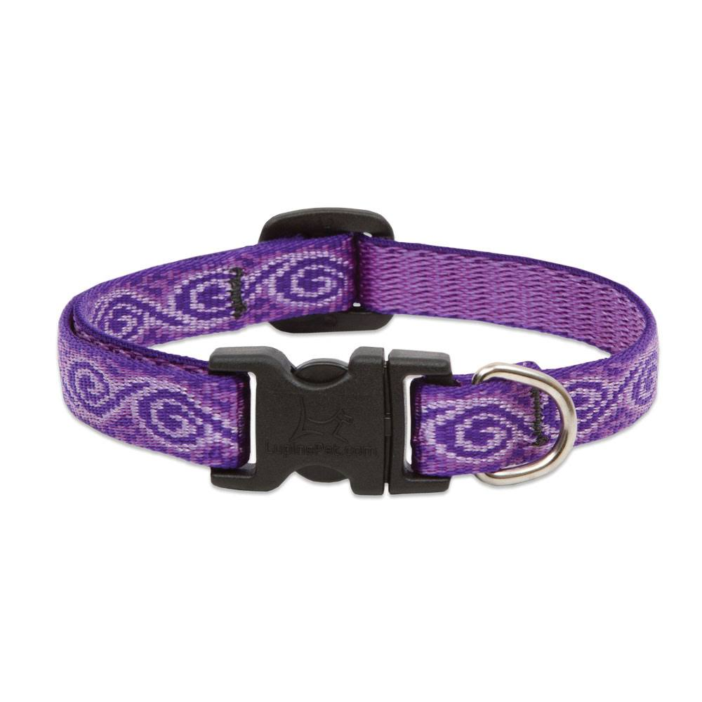 "LupinePet Jelly Roll Adjustable Dog Collar for Small Dogs - 1/2"" x 6-9"""