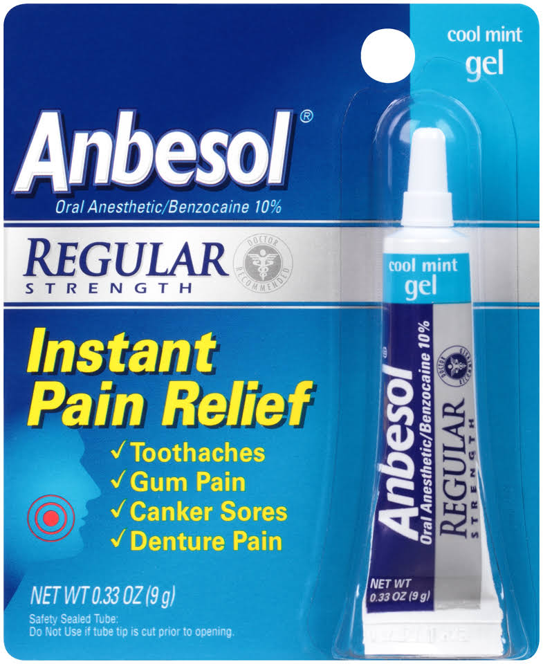 Anbesol Pain Relief Gel - Cool Mint, 9g