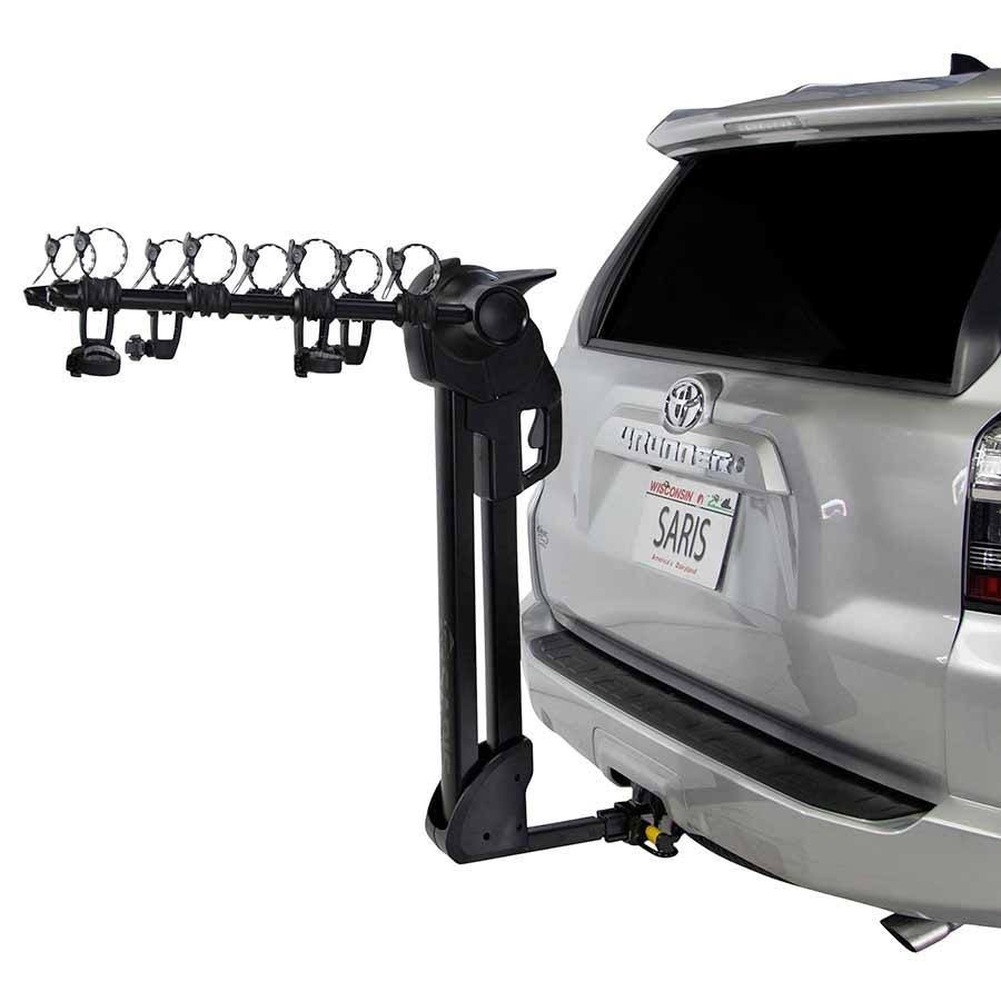 Saris Glide EX Hitch Mounted Bike Rack - Black, 5 Bikes Capacity