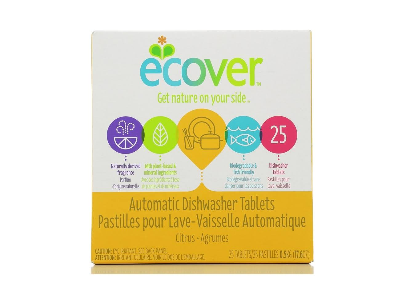 Ecover Natural Automatic Dishwasher Tablets - Citrus, 25 Pack