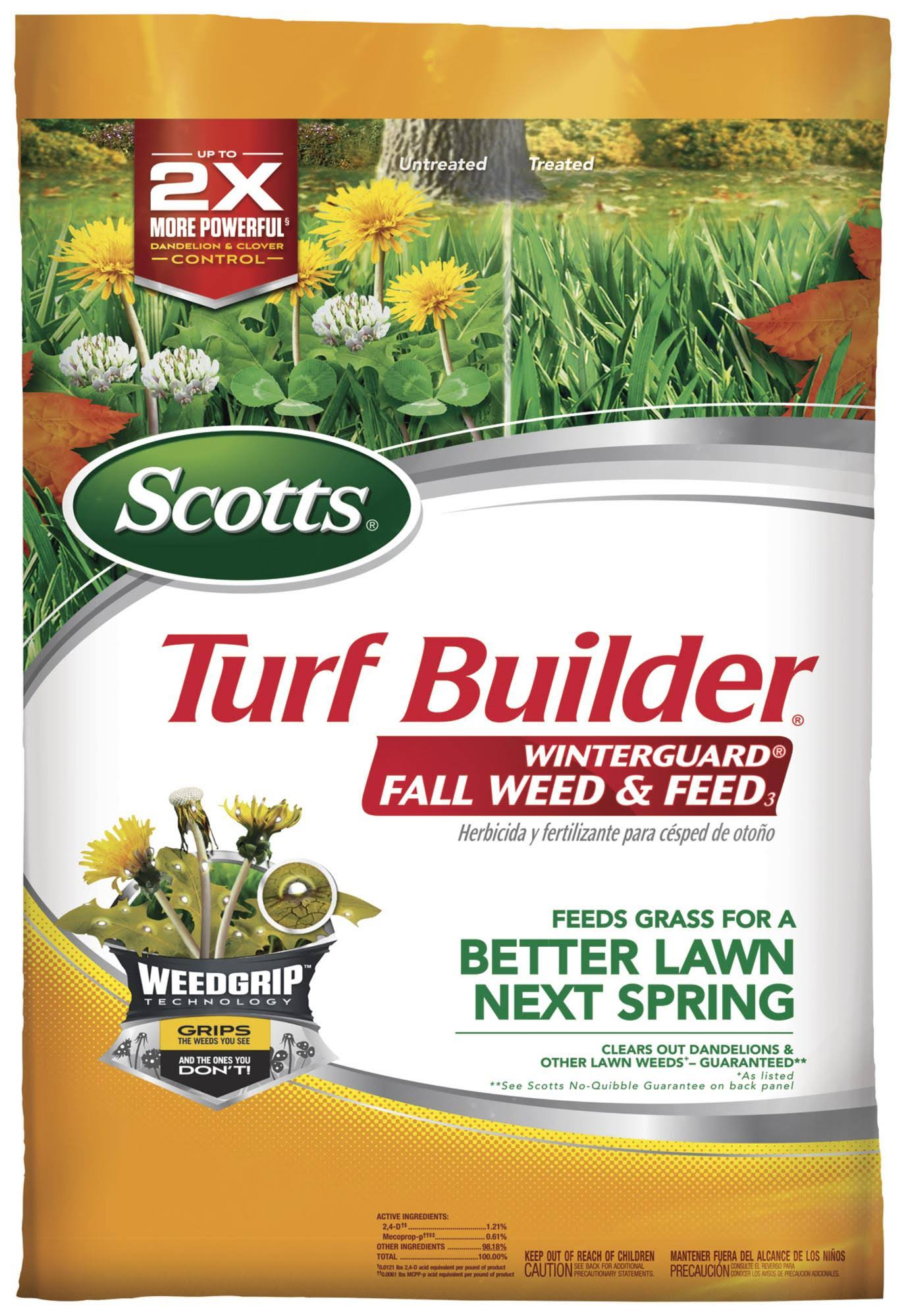 Scotts Turf Builder Winterguard Weed and Feed Fall - 5m