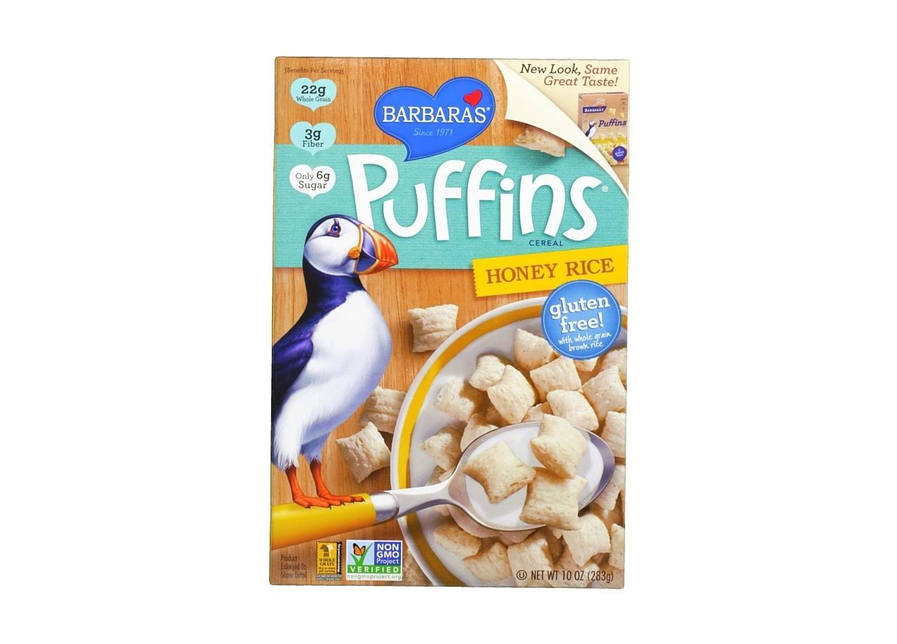Barbara's Puffins Cereal Honey Rice