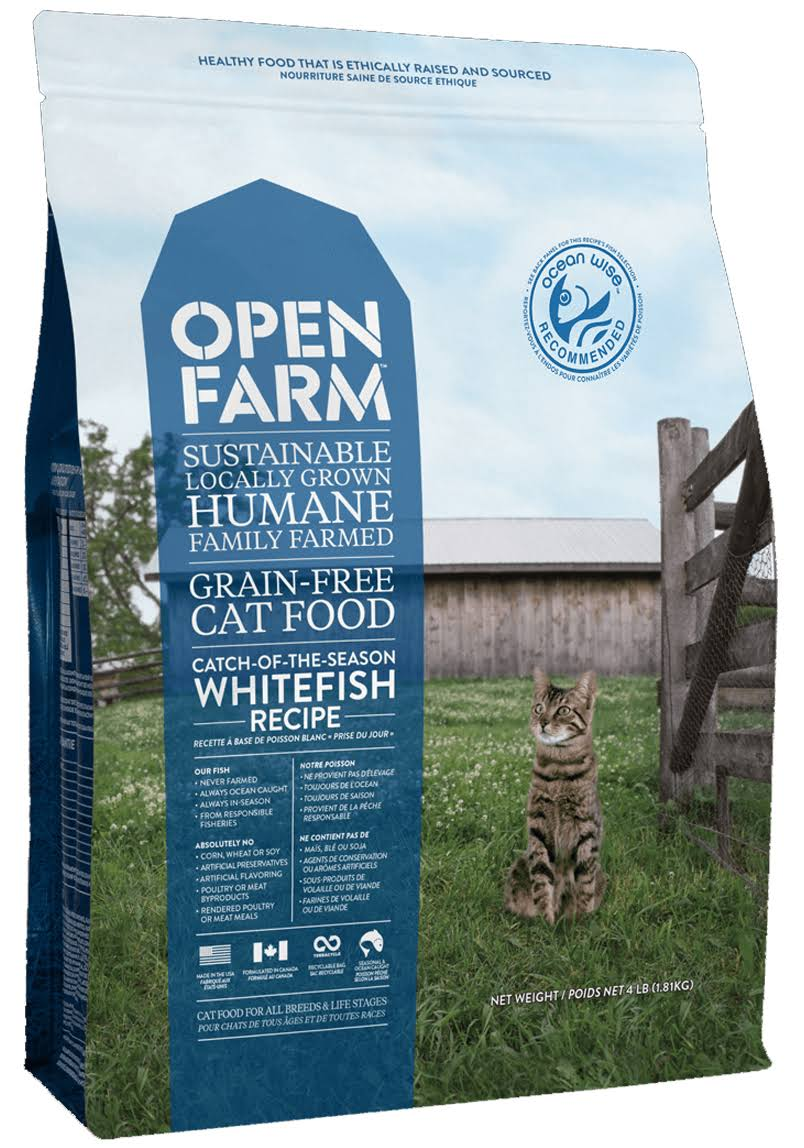 Open Farm Catch-of-the-Season Whitefish Grain-Free Dry Cat Food-8 lb