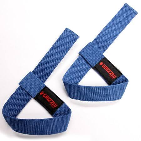 Grizzly Fitness Adjustable Cotton Weight Lifting Straps - Royal Blue