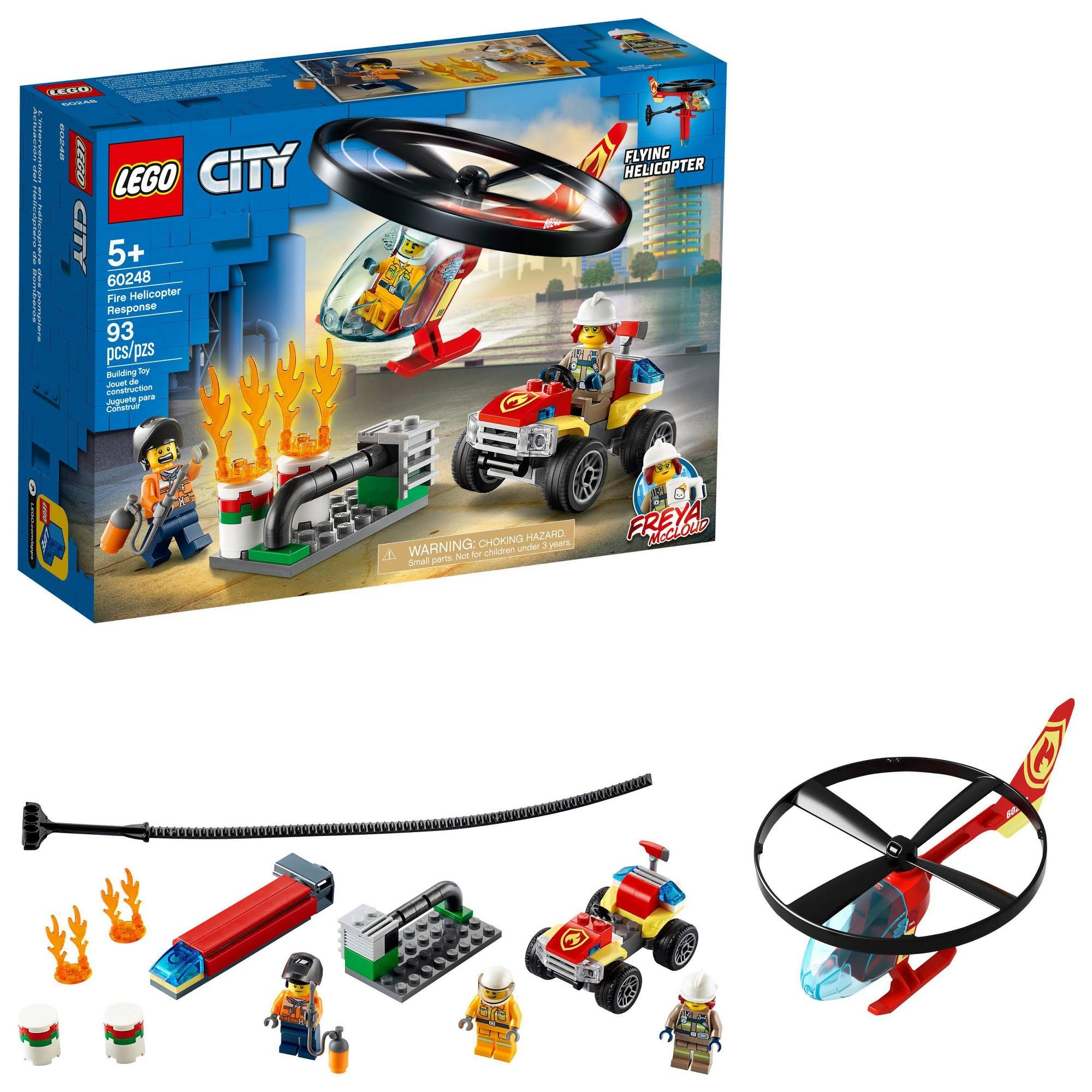 Lego City Fire Helicopter Response 60248 Building Set