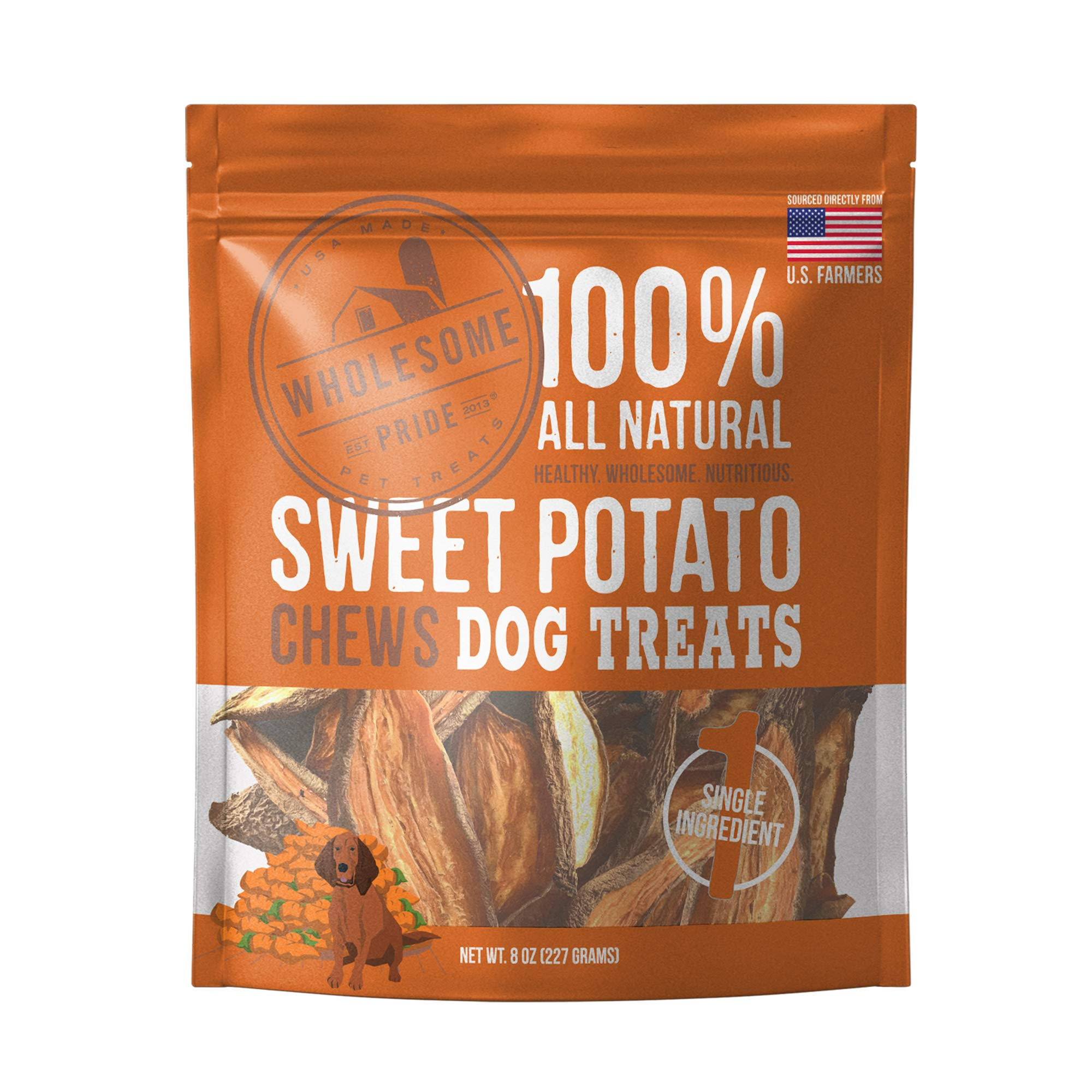 Wholesome Pride Sweet Potato Chews Dog Treats - 8 oz