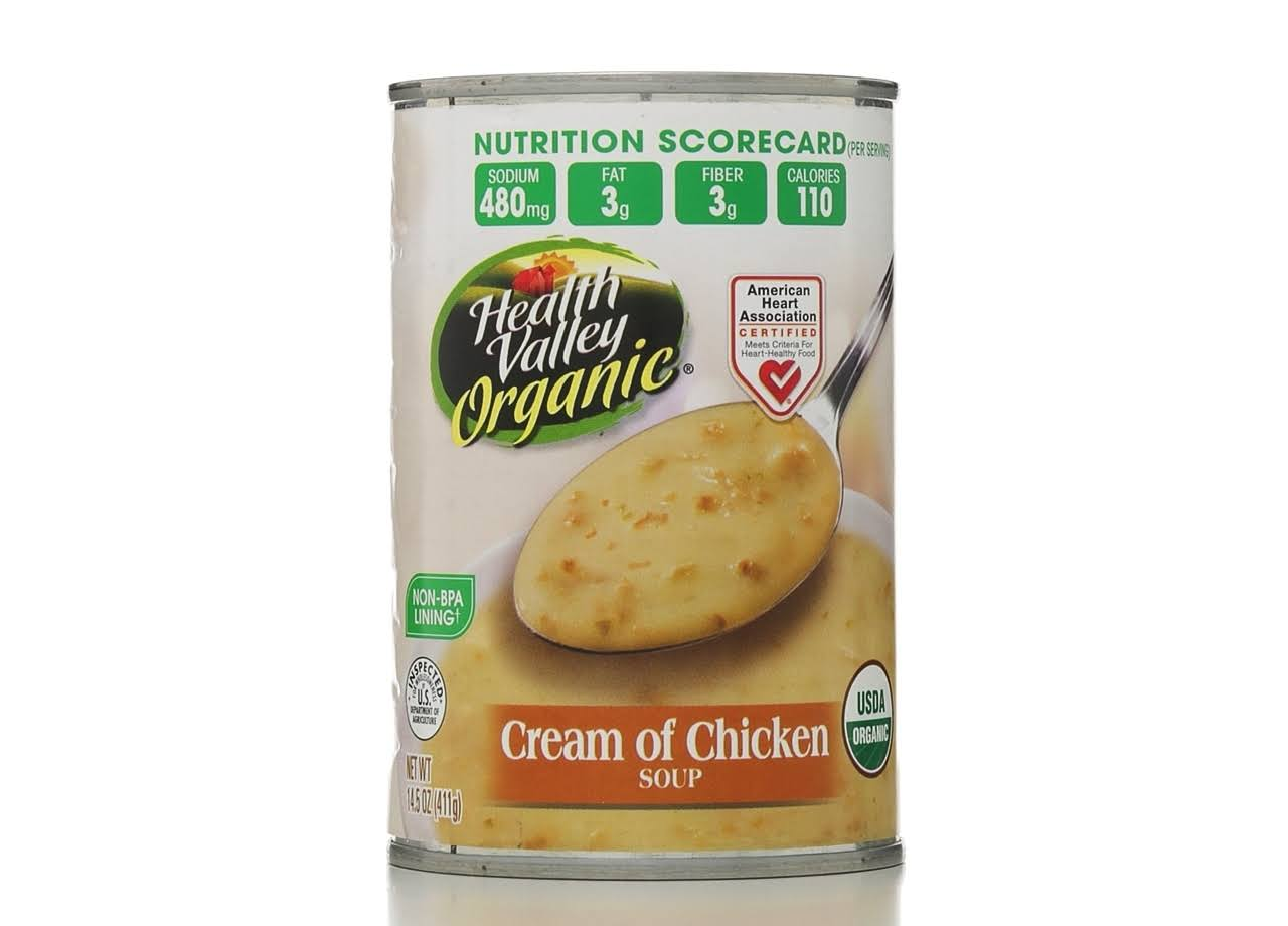 Health Valley Organic Cream of Chicken Soup - 411g