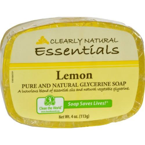 Clearly Natural Essentials Glycerine Soap - Lemon, 113g