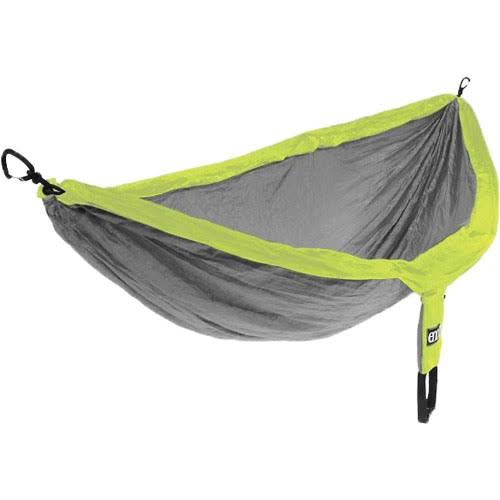 Eagles Nest Outfitters Double Nest Eno Hammock - Gray/Neon
