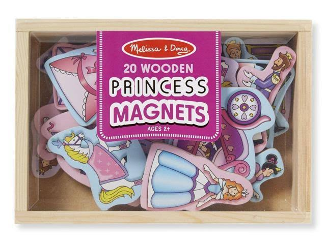 Melissa & Doug Wooden Princess Magnets