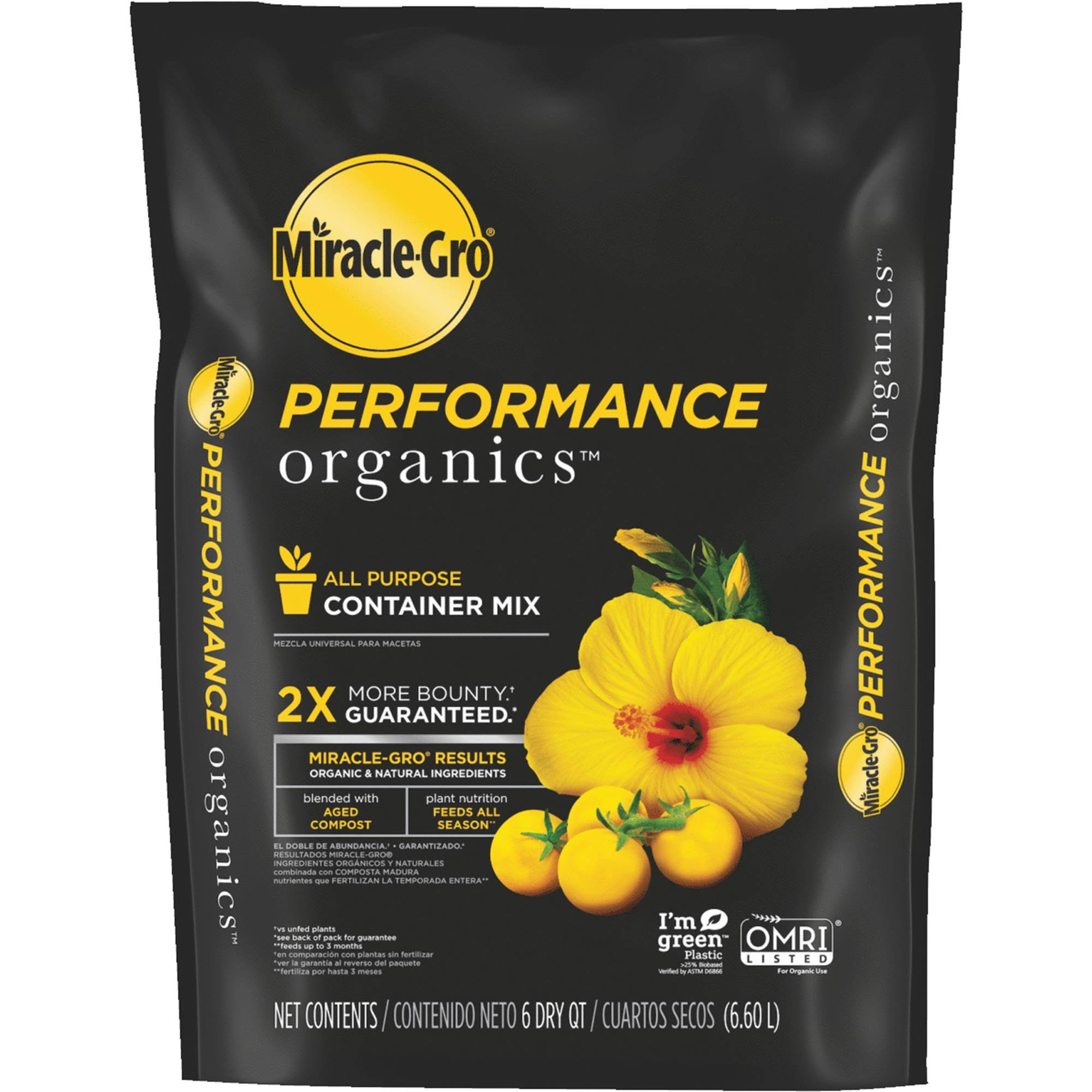 Miracle-Gro Performance Organics 6 qt Container Mix