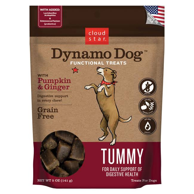 Cloud Star Dynamo Dog Functional Treats - Pumpkin and Ginger, 396g