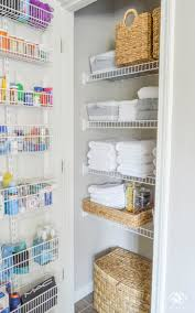 Tall Narrow Linen Cabinet With Doors by Best 25 Linen Closets Ideas On Pinterest Organize A Linen