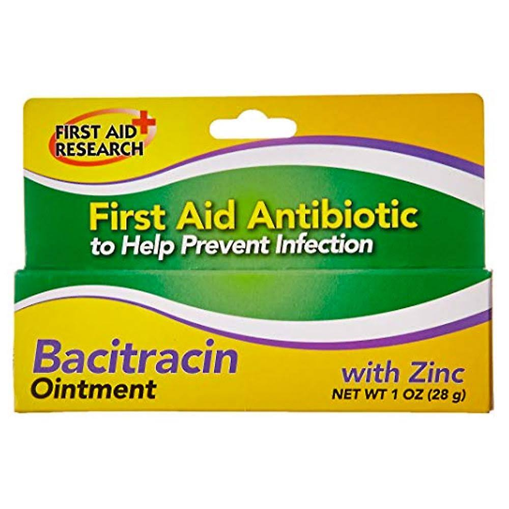 First Aid Bacitracin Antibiotic Ointment - with Zinc, 1oz